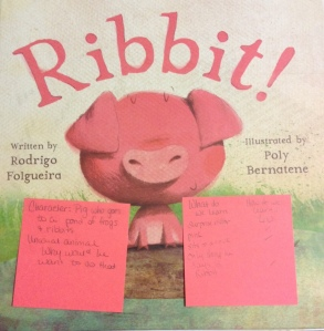 Photo of Ribbit with sticky notes