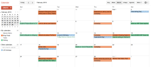 Google Calendar Screen shot