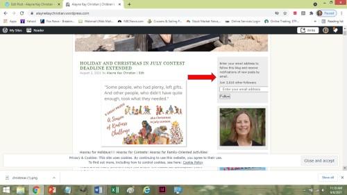 blog follow screen shot
